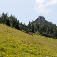 Blick auf den Gipfel des Petingköpfl